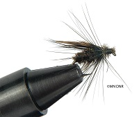 photo of a small artificial fly used in fly fishing
