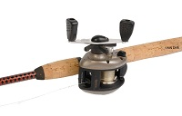 photo of baitcasting rod and reel