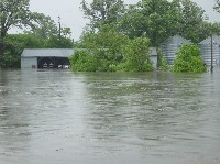 A flooded farm