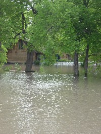 House on north bank of Wild Rice