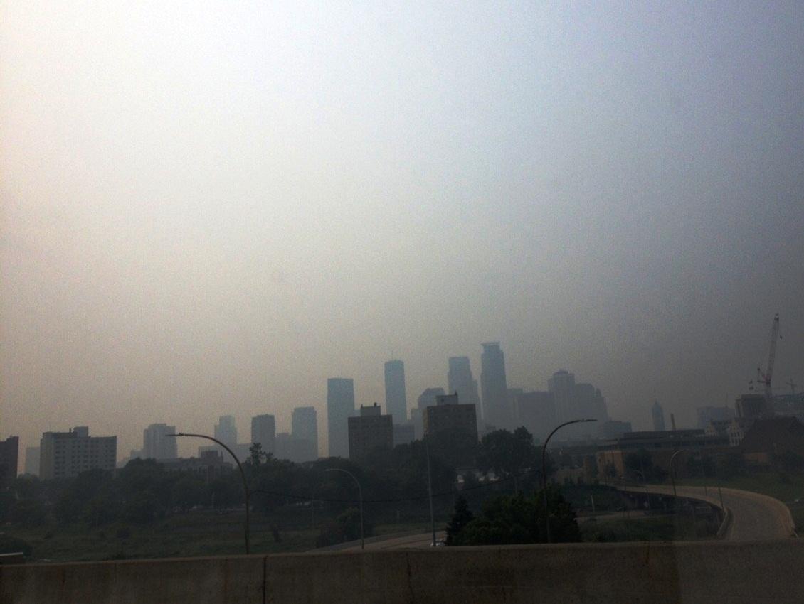 Smoky Skies over Minneapolis