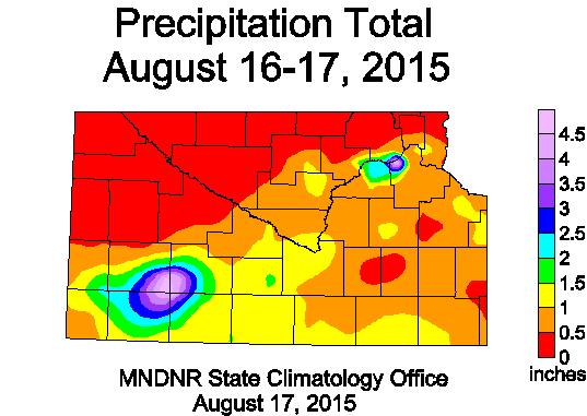 Rainfall August 16-17, 2015
