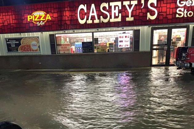 Street Flooding at Casey's in Foley: August 29, 2016