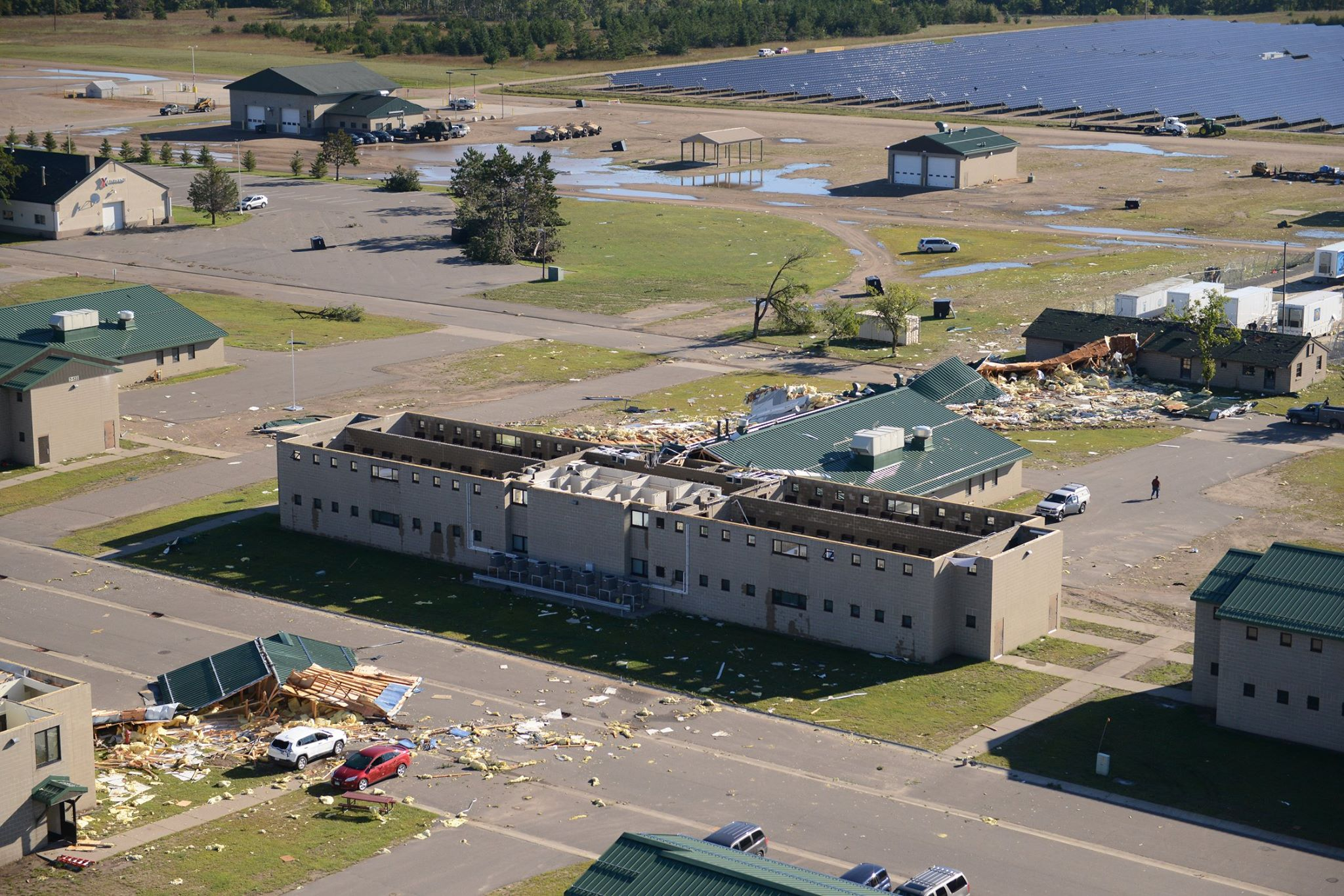 Damage at Camp Ripley from the September 7, 2016 Tornado