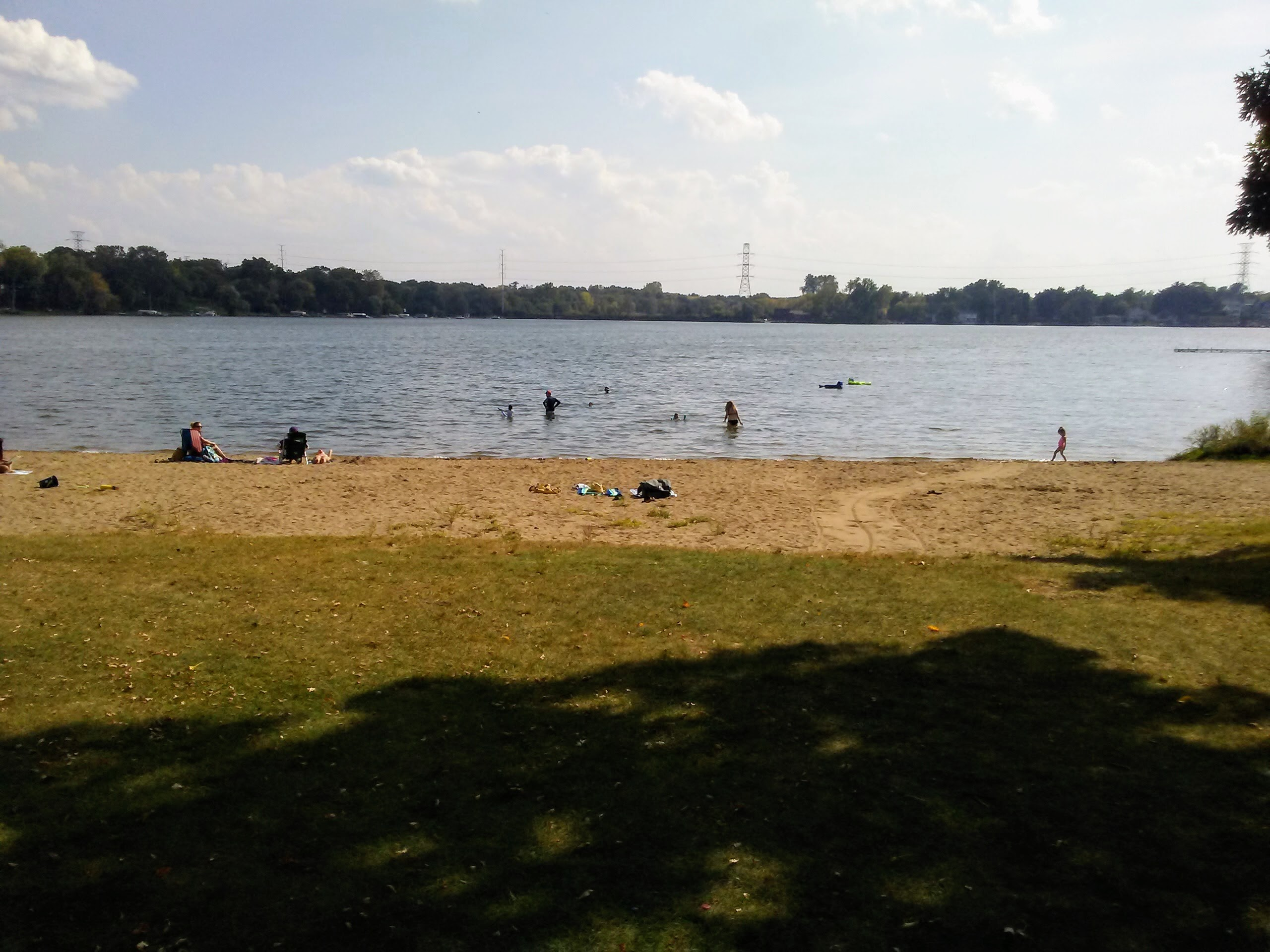 Beach use in Roseville on September 24, 2017