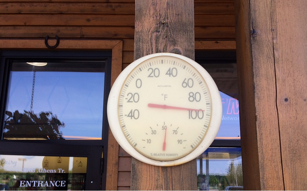Thermometer on May 28, 2018