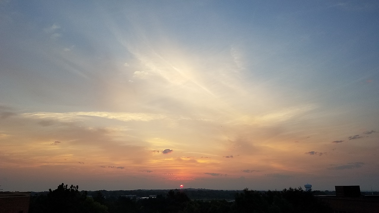Smoky Sunrise over the St. Paul Campus of the U of M: August 14, 2018