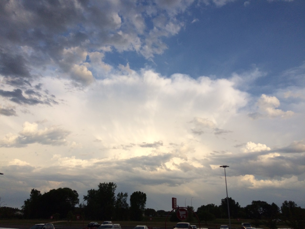 Looking Southeast at Thunderstorms