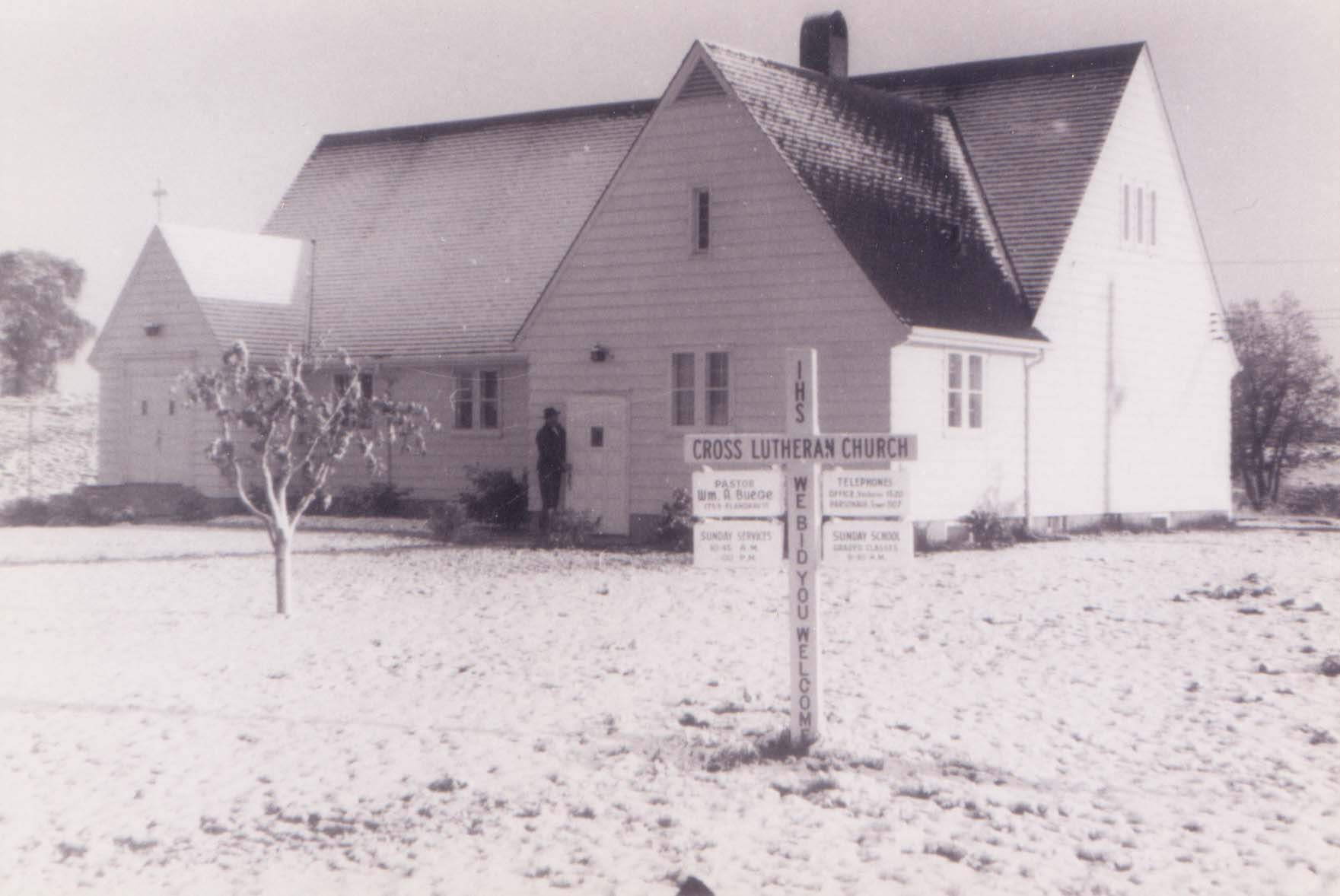 Snow at Cross Lutheran Church, (Present Day Maplewood)May 12, 1946