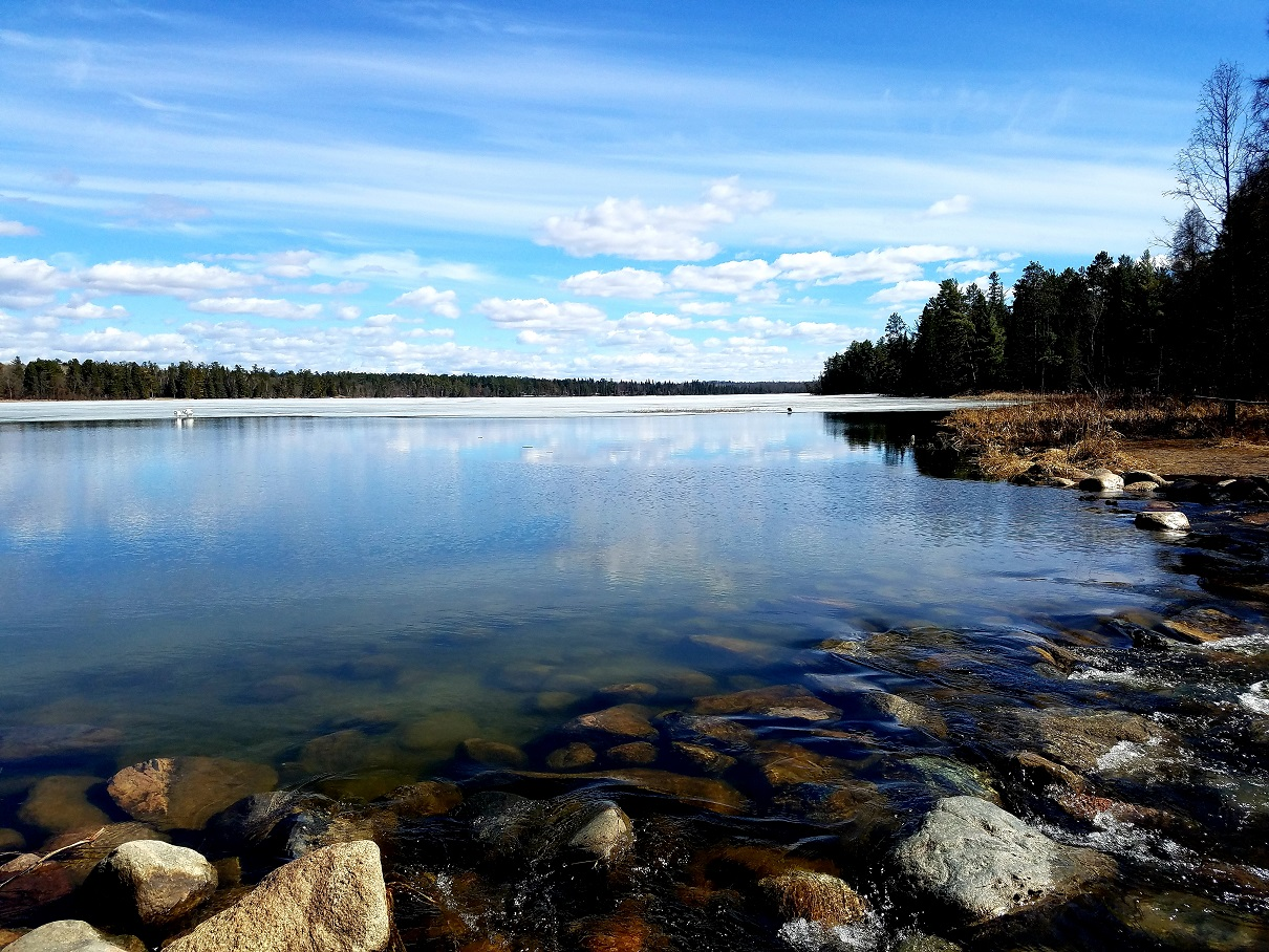 Lake Ice at Lake Itasca: April 18, 2019 class=