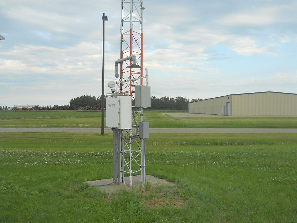 The Moorhead Airport Automated Station Looking East