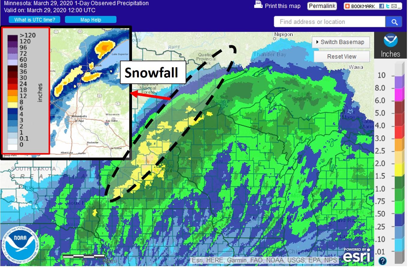 precipitation and snow maps