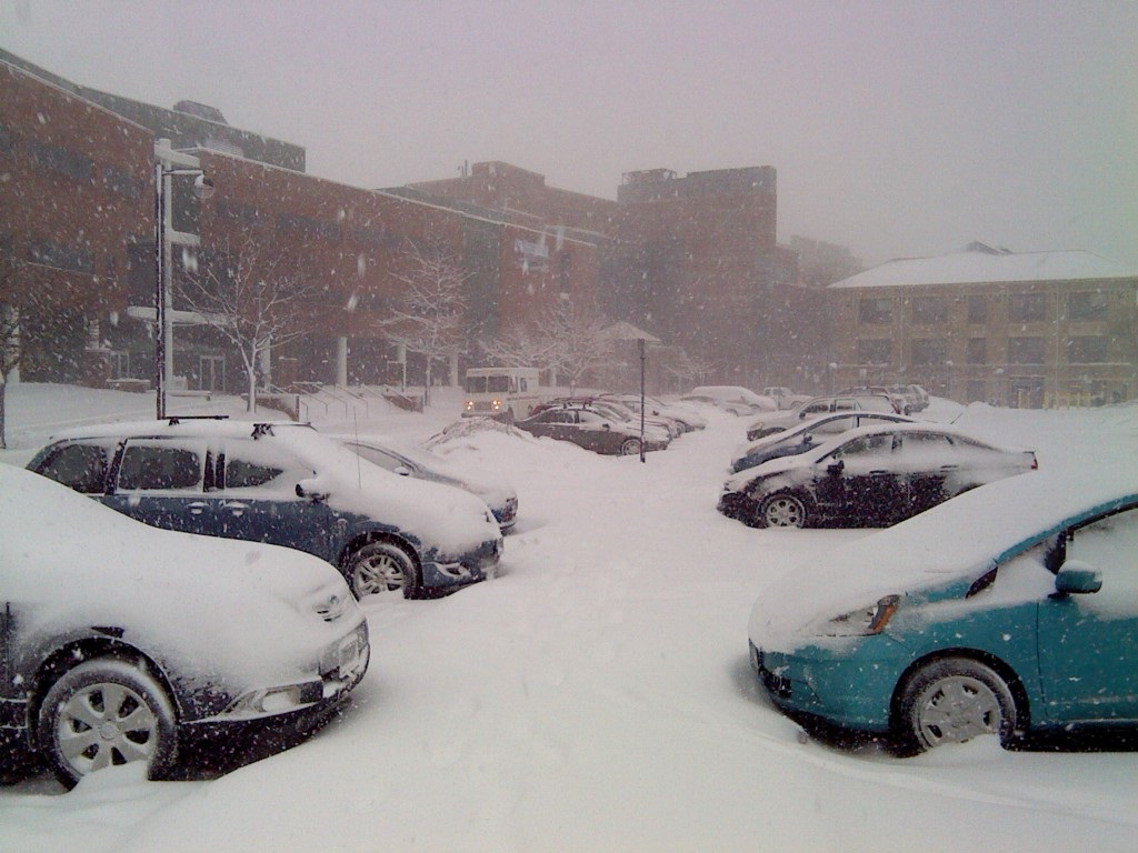 February 2, 2016 snowstorm at the U of M St. Paul Campus