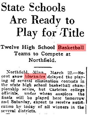 1917 Tournament Snowstorm