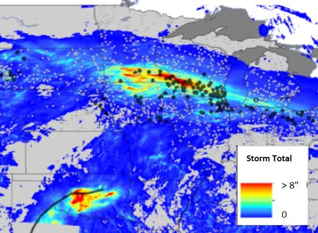 48-Hour Snowfall Totals Ending February 3, 2016