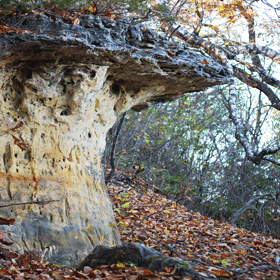 weathered rock outcrop