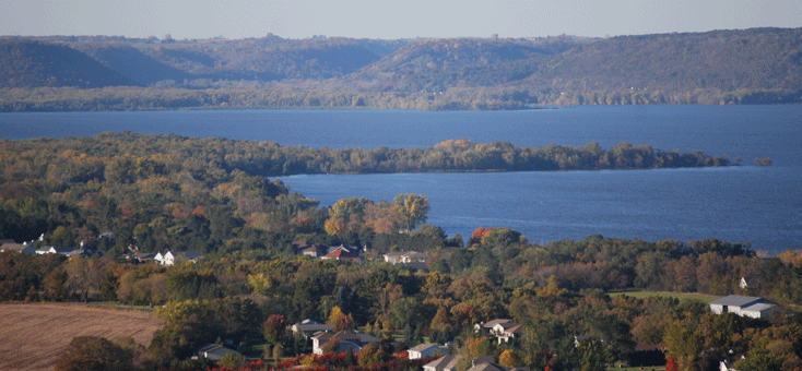 Lake Pepin and surrounding community