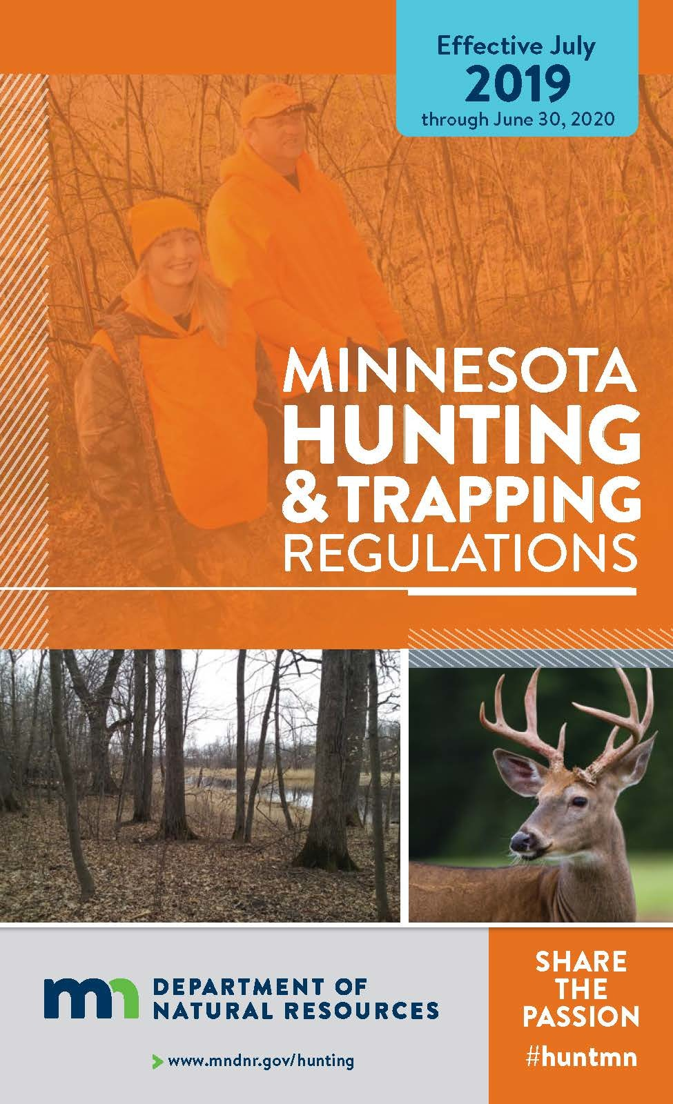 image of 2019 hunting regulations book cover
