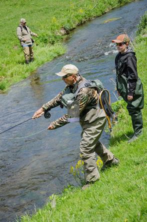 Trout fishing on a southeastern Minnesota stream.