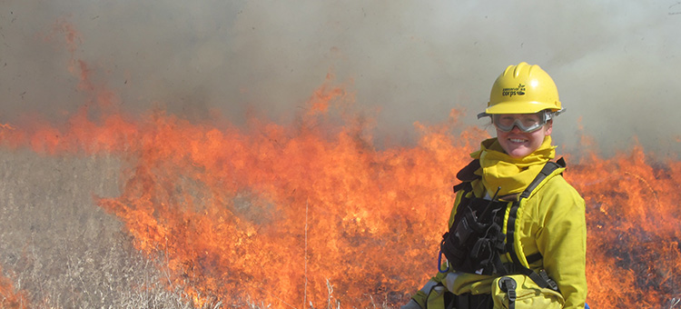 controlled burn at a state park