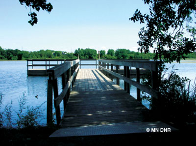 fishing pier at Battle Creek.
