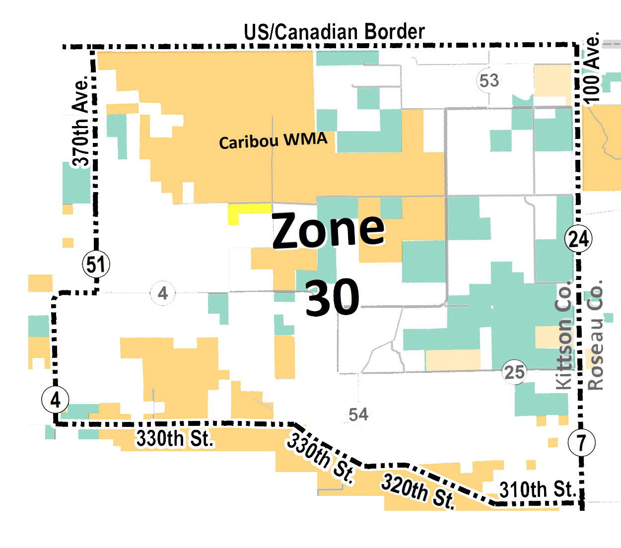 Map showing elk Zone 30