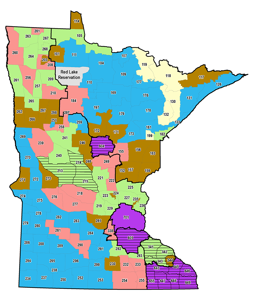Map showing boundaries of Minnesota's deer permit areas and the zones in which they are contained.