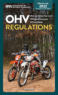 Cover of the recreational motor vehicle regulations summary.