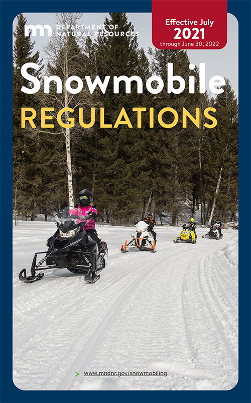MN Snowmobile regulations cover