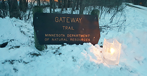 Candlelight by Gateway Trail sign
