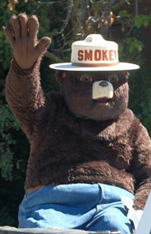 Smokey Bear in fair parade