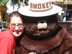 Smokey Bear and friend