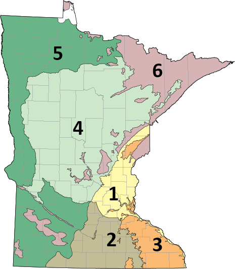 Minnesota Groundwater Provinces map