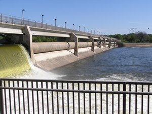 Coon Rapids Dam before work began in 2011.