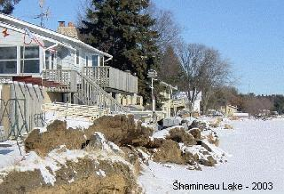 ice damage to shoreline