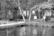 old gray shot of lake place