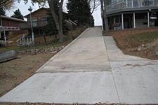a large paved driveway