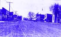 historic photo of Monticello main street