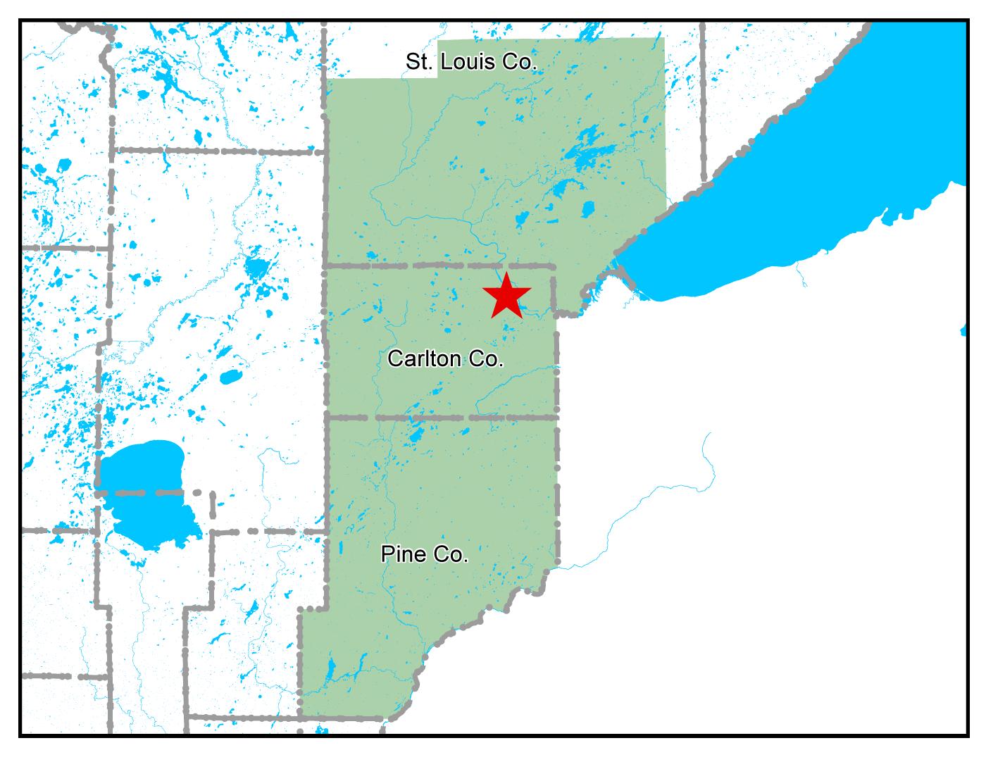 Map of Cloquet work area