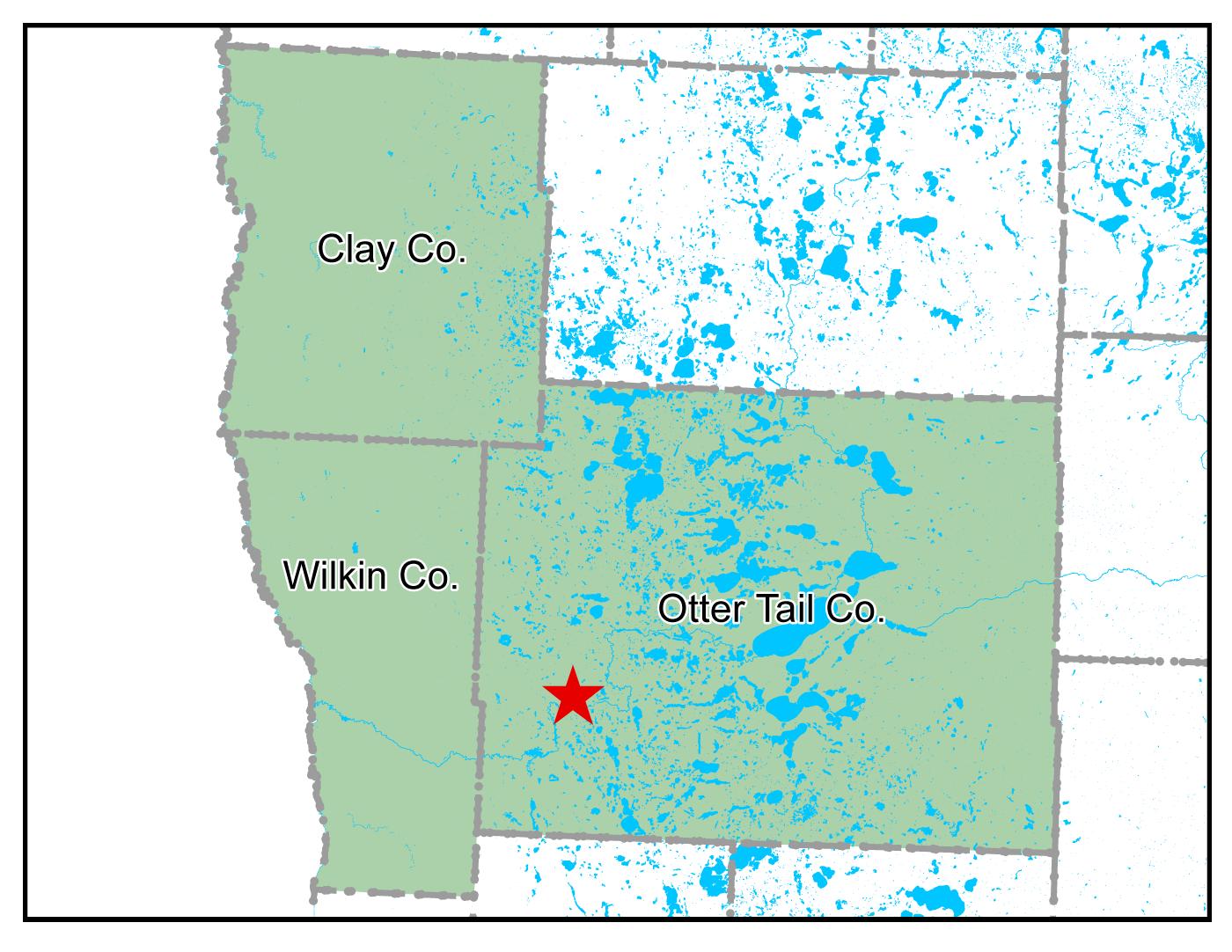 Map of Fergus Falls work area