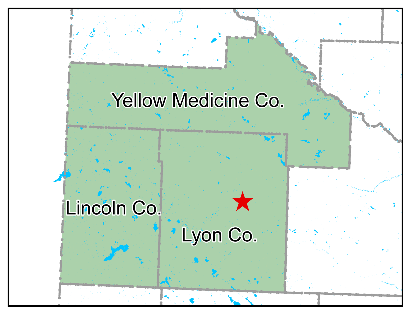 Map of Marshall work area