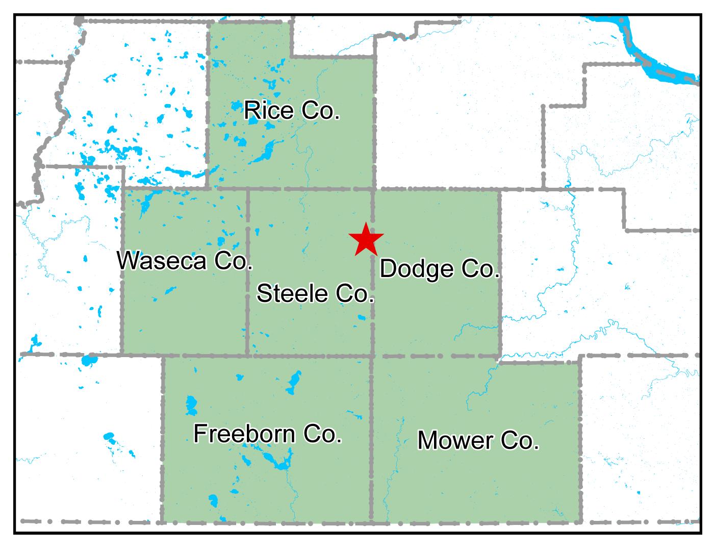 Map of Owatonna work area