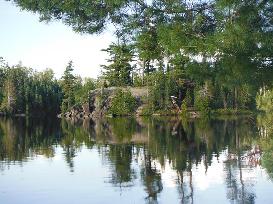 One of the Tower wildlife area's lakes surrounded by boreal forest.