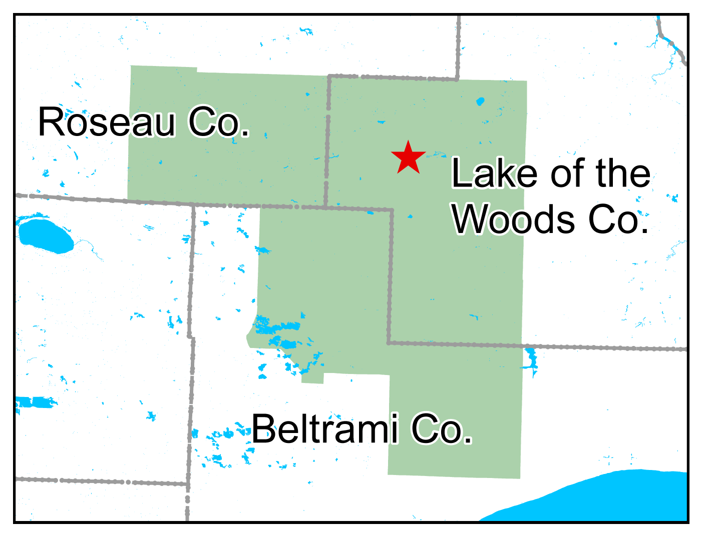 Map of Red Lake WMA work area