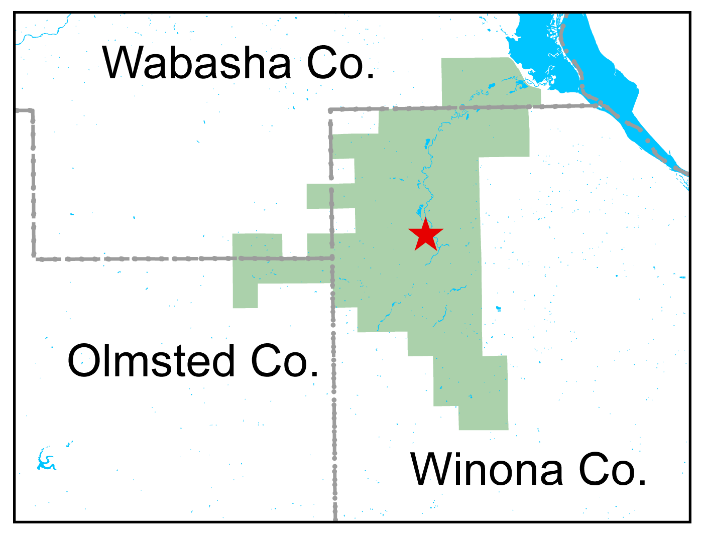 Map of Whitewater WMA work area