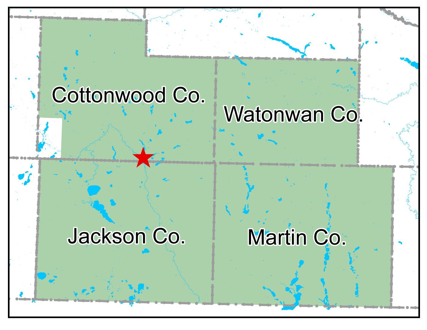 Map of Windom work area